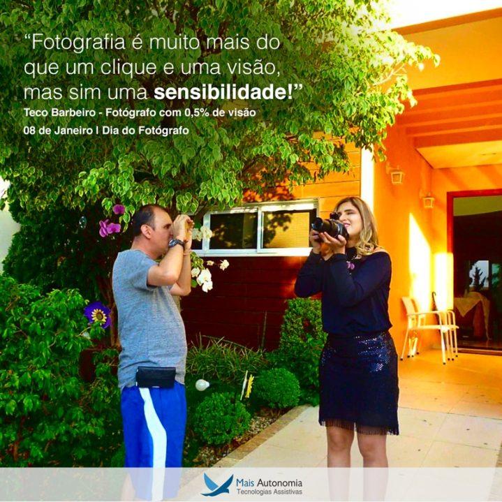 WhatsApp Image 2019 01 08 at 15.06.30 719x719 - Conheça a História do Fotografo com Baixa Visão Teco Barbeiro