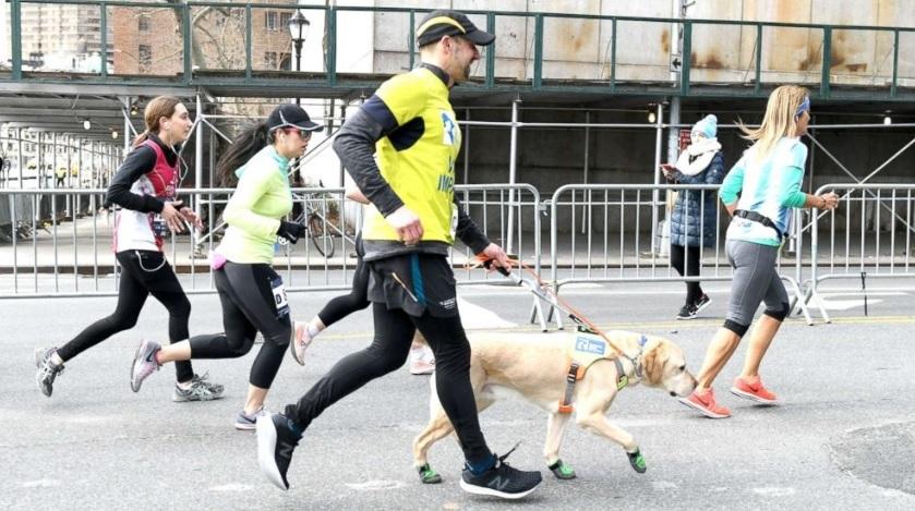 meia maratona - Homem cego fez Meia Maratona de Nova Iorque