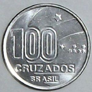 100 cruzados 300x300 - Você sabia que as estrelas nas moedas de Cruzeiro eram sinais em braile?