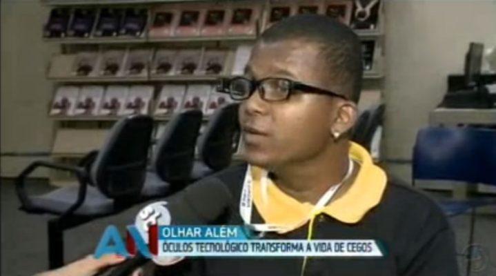 TV Aratu 719x400 - A TV Aratu realizou uma reportagem emocionante sobre a chegada da tecnologia OrCam na Biblioteca Central de Salvador.