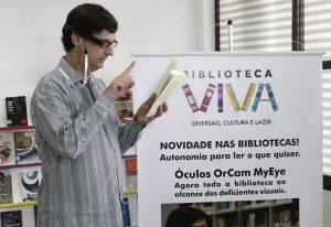 biblioteca viva 300x206 - Óculos que transforma texto em áudio chega em bibliotecas de SP