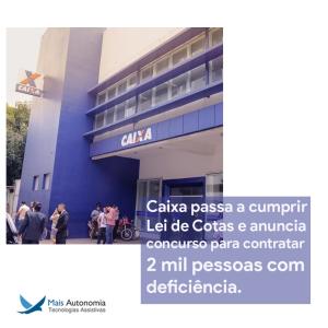 caixa 300x300 - Caixa anuncia concurso para a contratação de 2.500 pessoas com deficiência