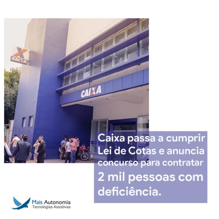 caixa 719x719 - Caixa anuncia concurso para a contratação de 2.500 pessoas com deficiência