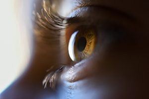 Imagem aproximada de um olho castanho