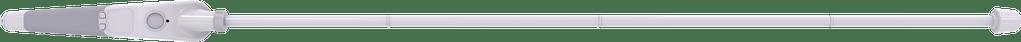 Imagem da Bengala Inteligente WeWALK acoplada com o cabo da bengala branco