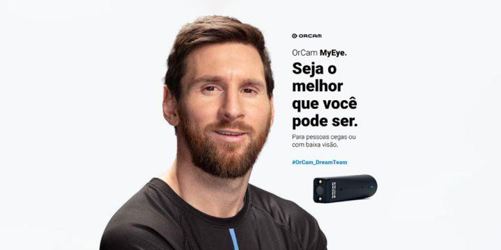 Lionel Messi é o novo embaixador da OrCam